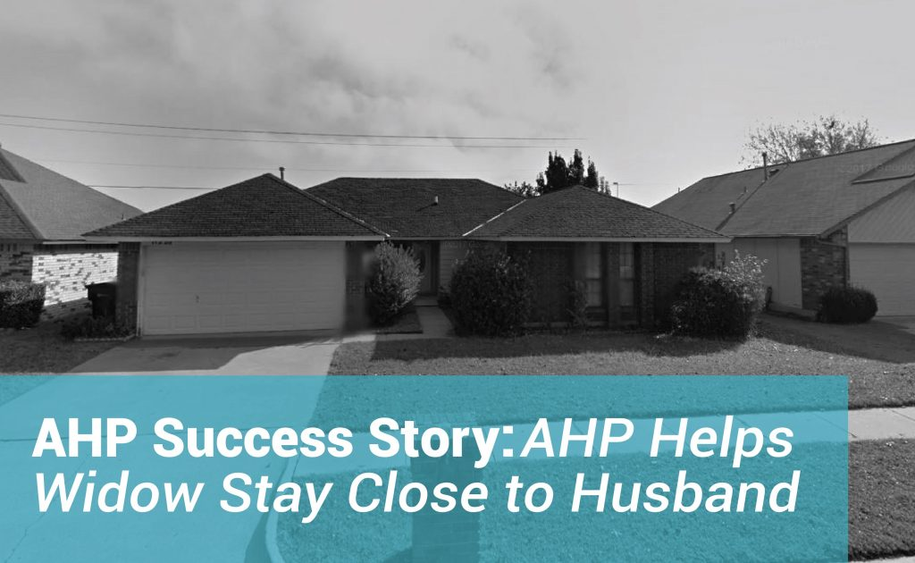 A widow named Gladys Cudjoe is able to stay in her home thanks to AHP.