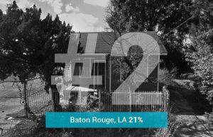 Baton Rouge, LA - 21% Underwater