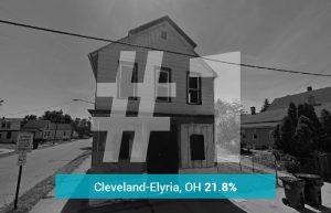Cleveland0Elyria, OH - 21.8% Underwater
