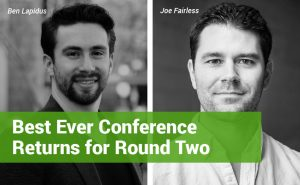 """Pictures of Best Ever Conference founders Joe Fairless and Ben Lapidus with text reading: """"Best Ever Conference Returns for Round Two"""""""