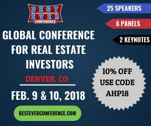 "Promo offering 10% discount on tickets to Best Ever Conference with code ""AHP18"""